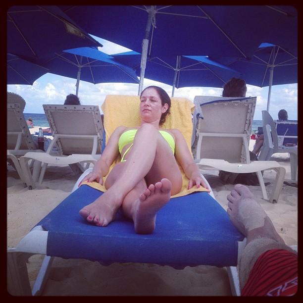 Min lilla fröken njuter i solen:) @daddas