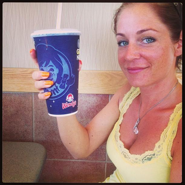 Medium Dr Pepper size :)