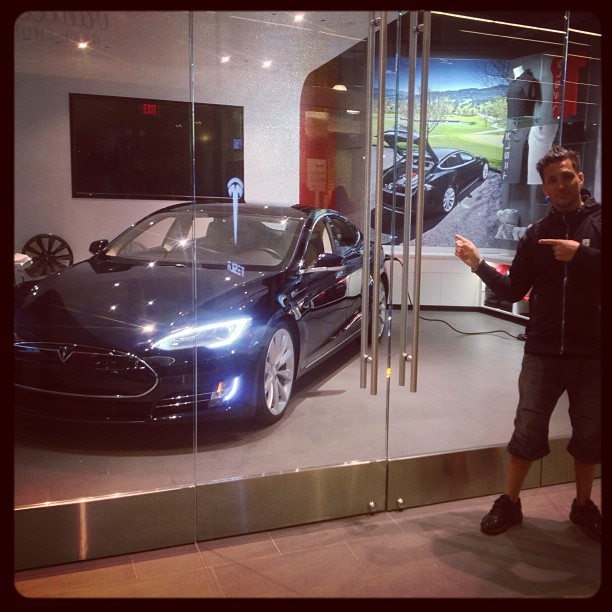 How about taking this Tesla for a  ride?! :)