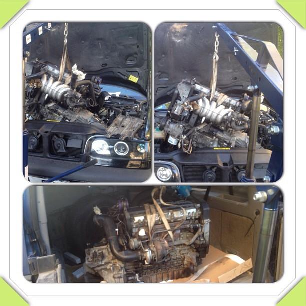 Motorn och låda UR :)