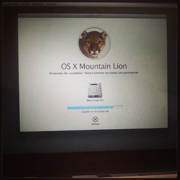 Time for an OS update 10.8.4