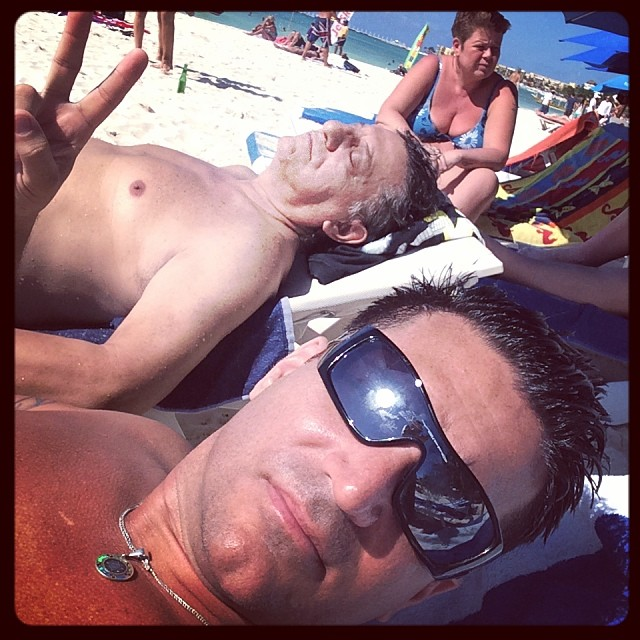 Me and Dad at The Beach