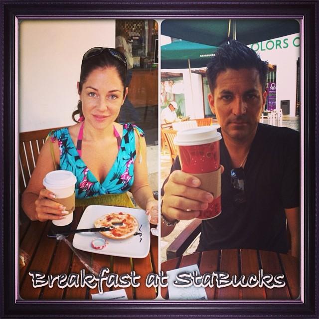 Breakfast at Starbucks #Starbucks #playadelcarmen