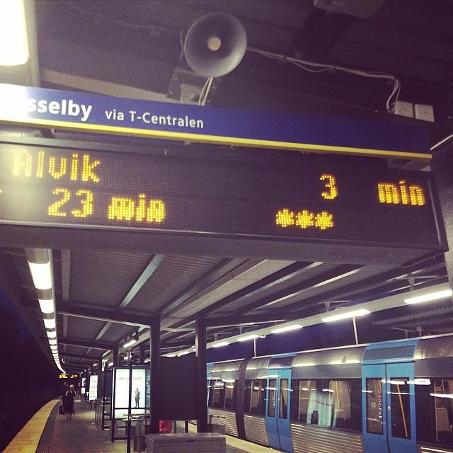 Fy !! Aldrig tunnelbana igen.