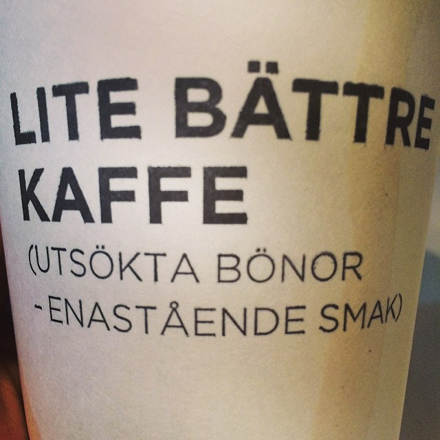 Kaffe. Efter jobbet
