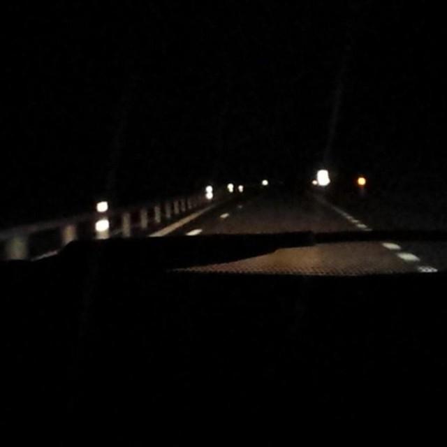 Efter en färd 40 mil i natten , ligger vi nu i sängen hemma :)Natti natti alla vänner och bekanta !