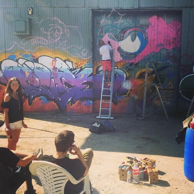 Artisterna får visa upp sina skills på mitt garage :)