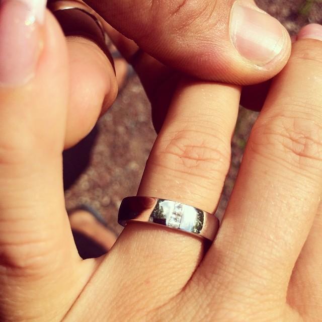 Då va det dags att put a ring on it :) Friade idag vid vattenfallet :) älskar dig Jesdica @daddas