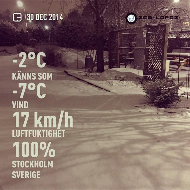 Snälla! Det räcker med snö nu! Please , No more snow! #weather #wx #stockholm #sverige #night #winter #cold #se #zeblopez #djzeb #Z€B
