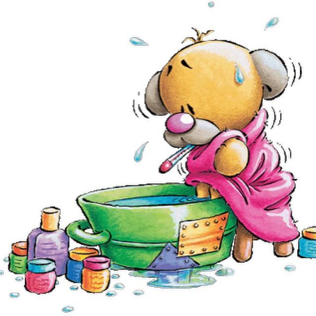 Ja - E- Sjuk! Fan vad liten man känner sig när man mår dåligt! Har haft hög feber och frossa i 24 h nu. Tur att fästmö tar hand om mig. :)