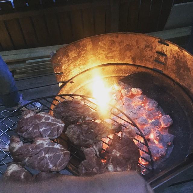 Dags för grillning med boyzen:) sen sova ! :)