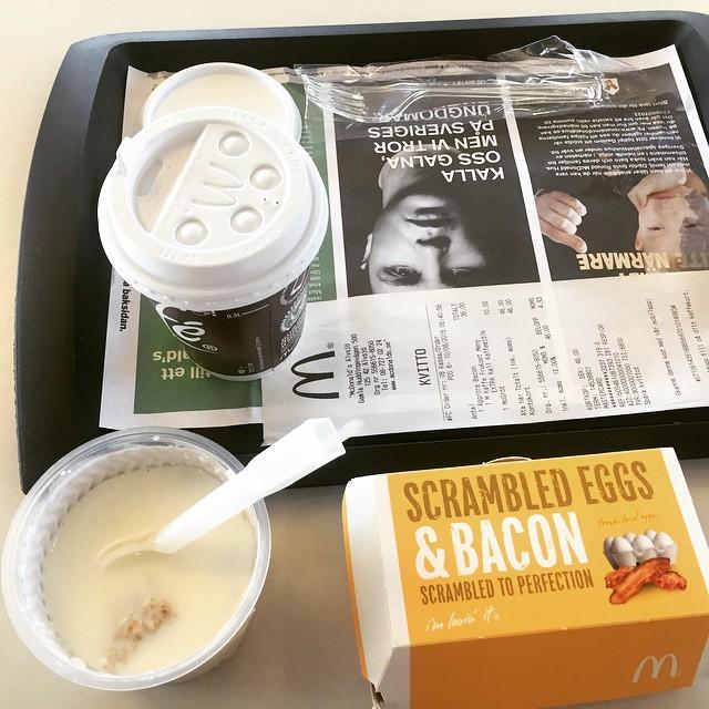 Stadigt?! Nja. Men dunkar som nödfrulle #frulle #frukost #backtowork