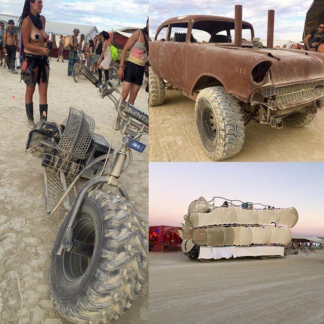 Artcars, bikes, and Trucks #art #trucks #bikes #burningman  #djzebofficial