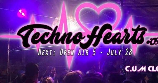 Im spinning at @technohearts july 28! OPEN AIR 2.30am - 4.30am TECHNOHEARTS.COM