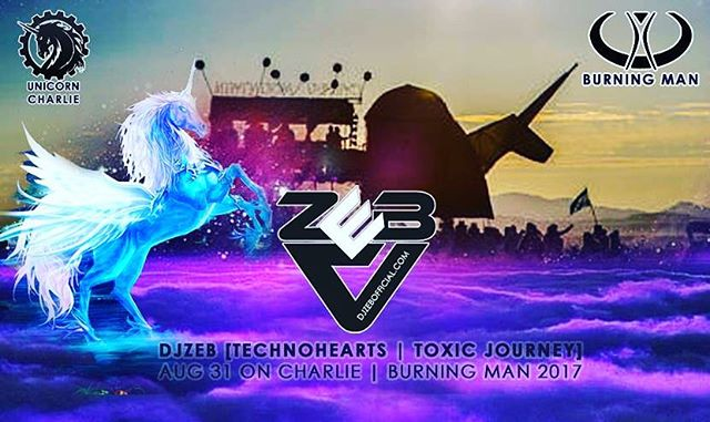 Ill Be spinning tracks on Charlie at Burning Man Aug 31.  This is a place full of Love,Music,Friends,Family,Art and a memory for Life!  #djzebofficial #burningman2017  #unicorncharlie #music #djlifestyles #djlife #friends #family #music #love #art