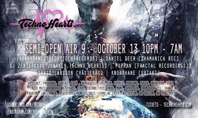 Slamming TechnoTunes @technohearts 4am-5:30am Friday Night!! Location and Tickets TECHNOHEARTS.COM